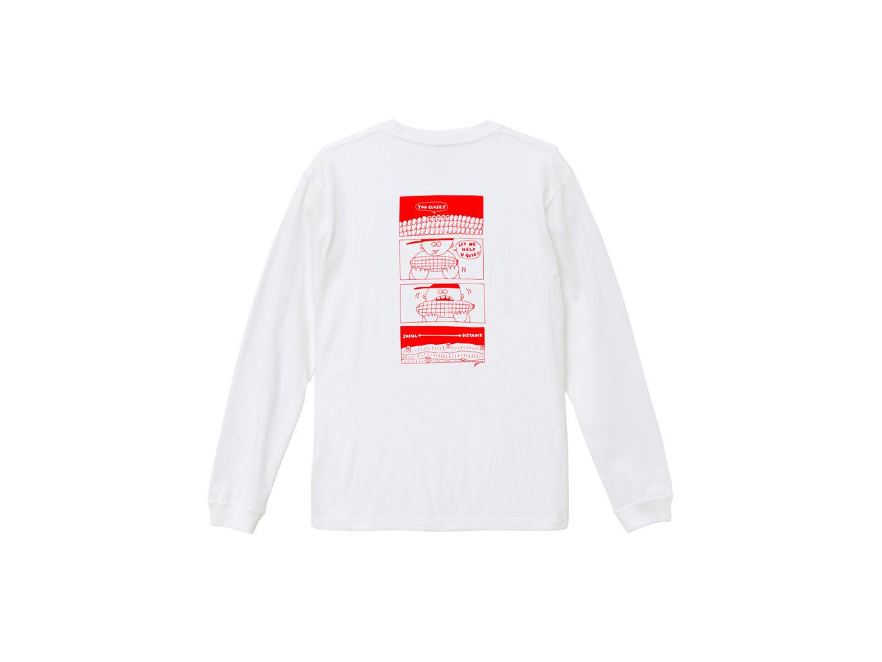 SHI × coguchi Corn SD long T-shirt (WH/RED)