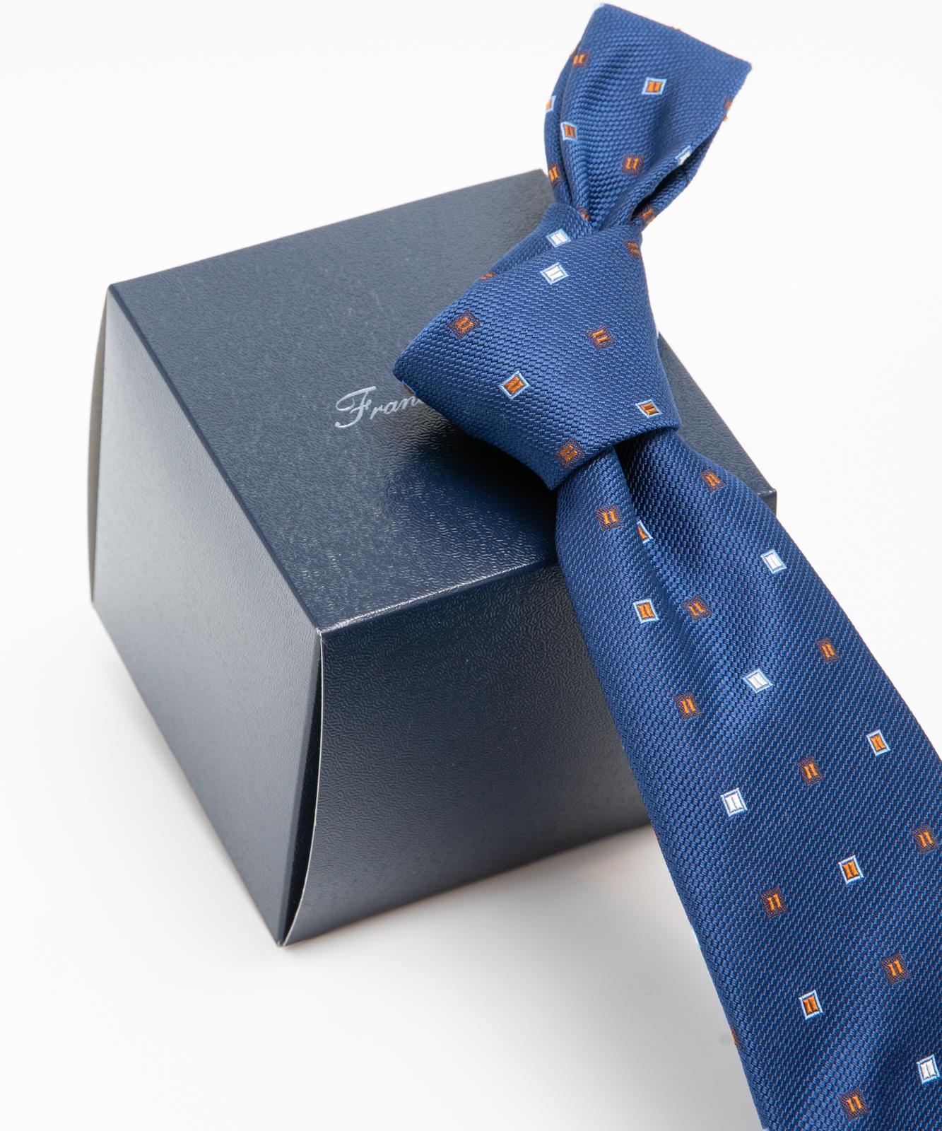 Franco Spada(フランコスパダ)クラシック小紋柄:ブルー