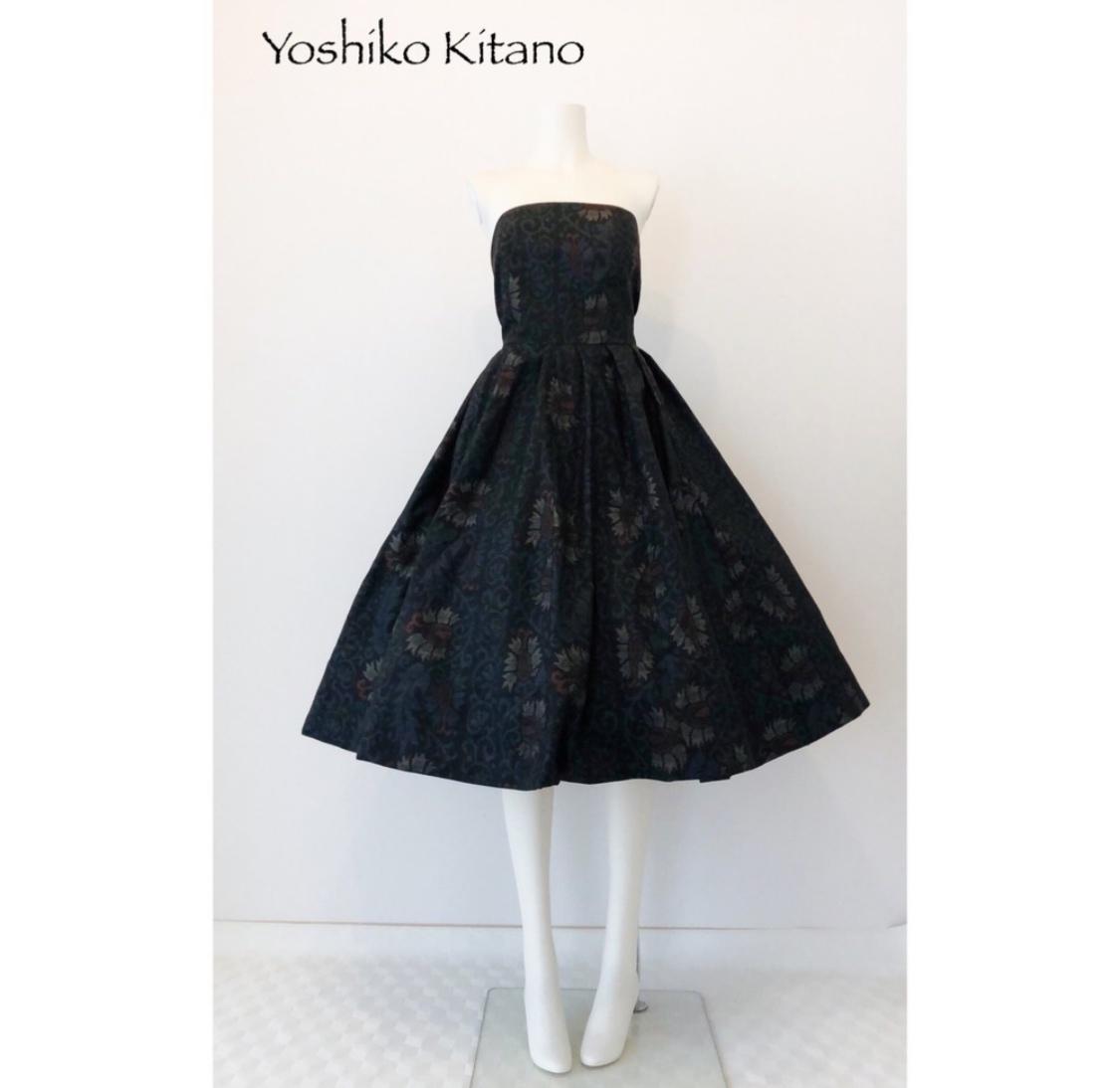 大島で作ったベアトップドレス