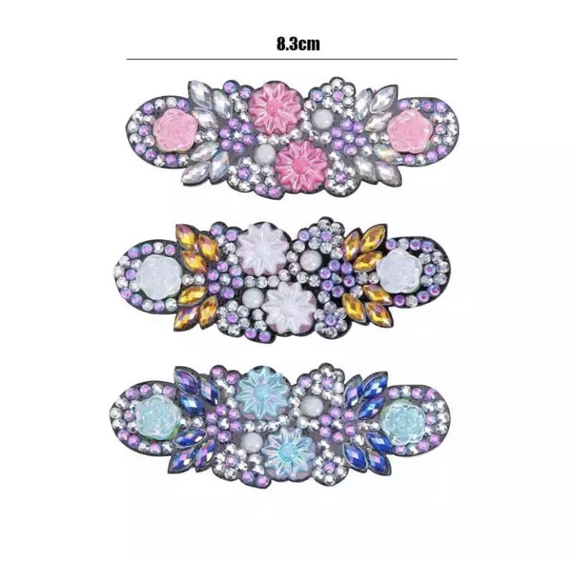 再入荷‼️【DIYシリーズ】ダイヤモンドアートで作る バレッタ3個セットG
