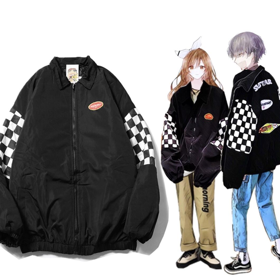 ビッグシルエットデザインジャケット 男女兼用