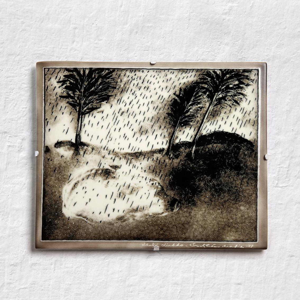 ARABIA アラビア Helja Liukko-Sundstrom ヘルヤ リウッコ スンドストロム 九月の陶板(オリジナル紙箱入り) 北欧ヴィンテージ