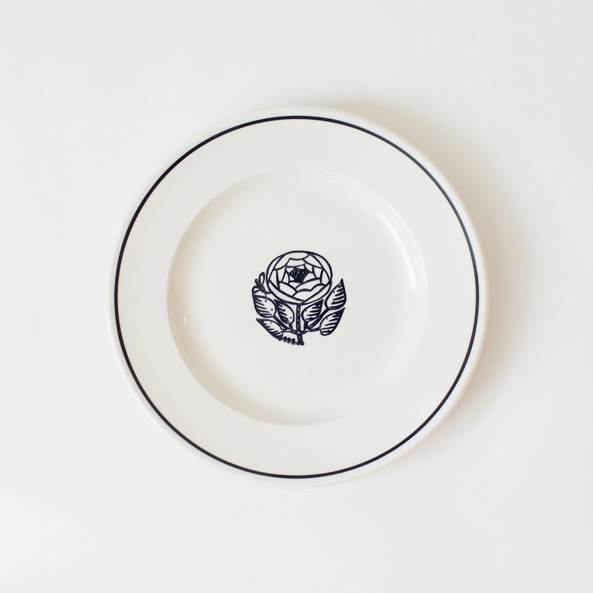 【鹿児島睦(かごしままこと)×John Julian(ジョン・ジュリアン)】 サイドプレート 21cm (バラ)