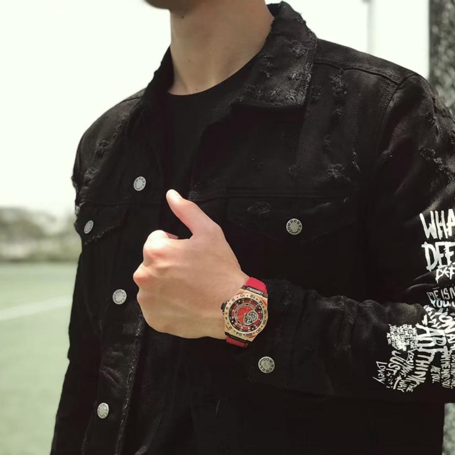 【HYDROGEN WATCH ハイドロゲンウォッチ】HW424405/VENTO ヴェント(レッド)/国内正規品 腕時計