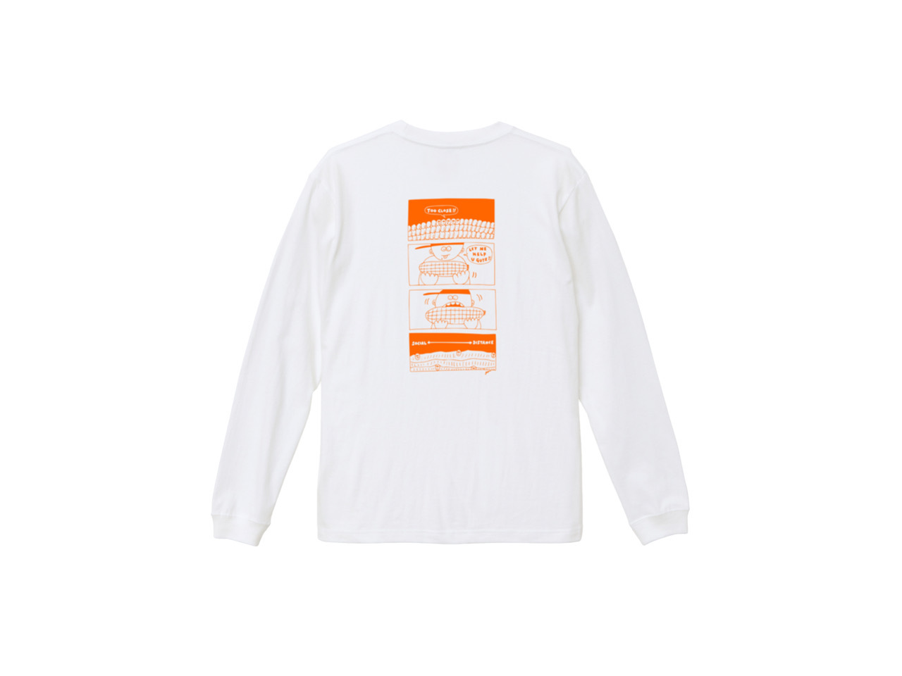SHI × coguchi Corn SD long T-shirt (WH/OR)