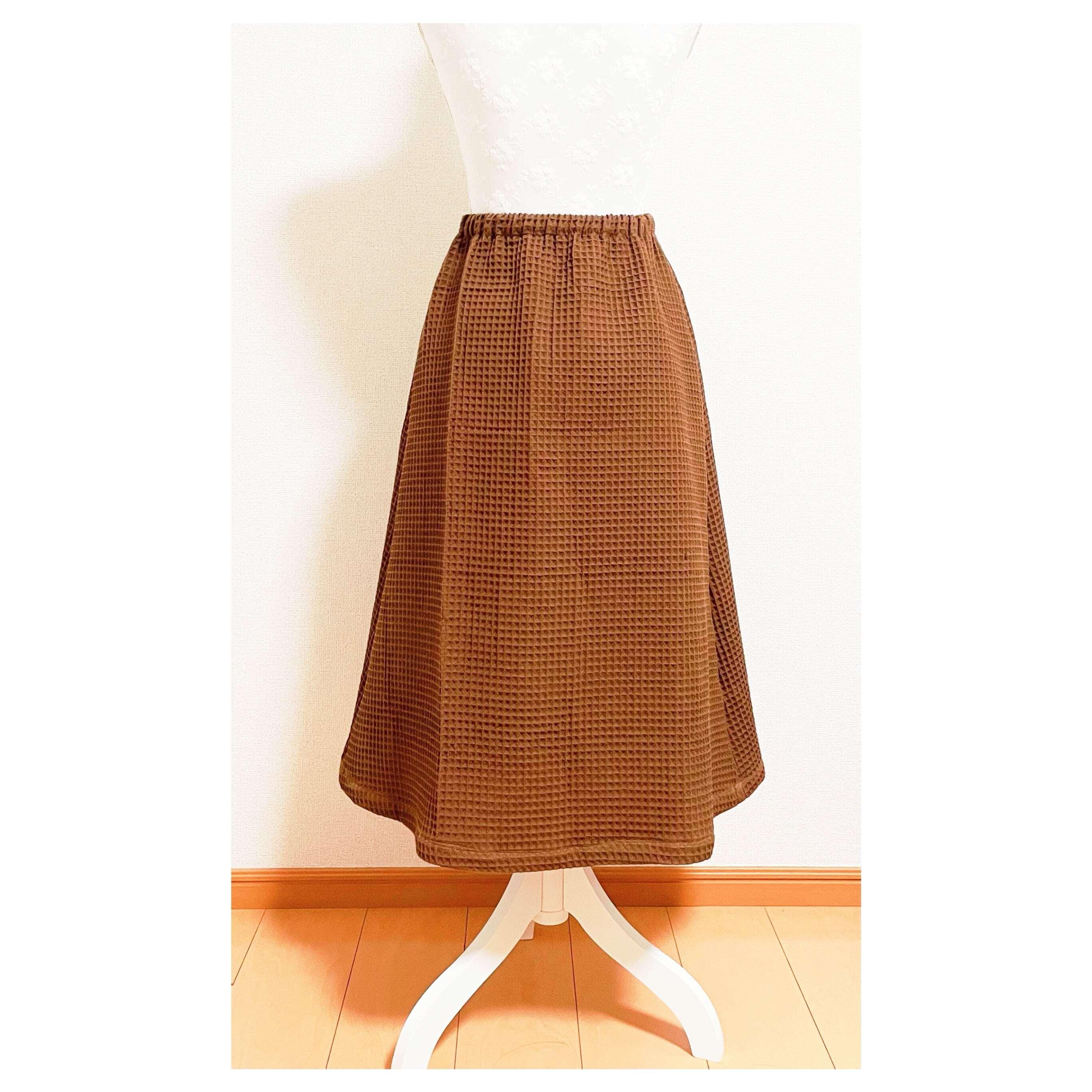 ポケット付き台形スカート型紙【DL版/レシピ付き】商用利用可能