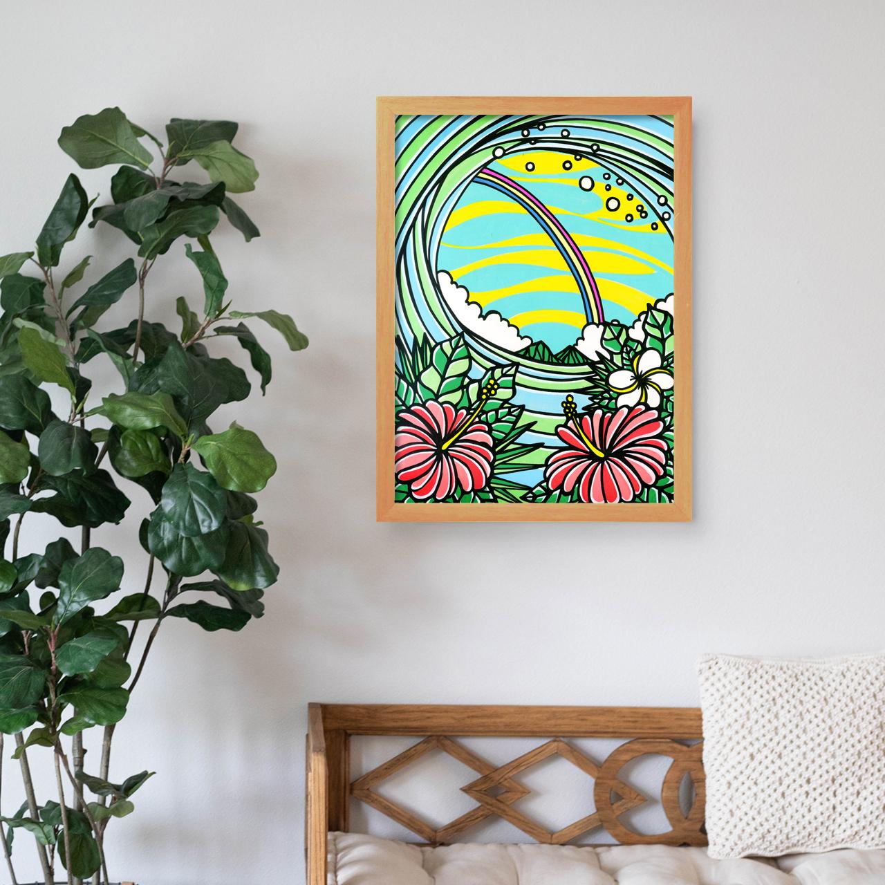 原画 A3(Rainbow Hibiscus)