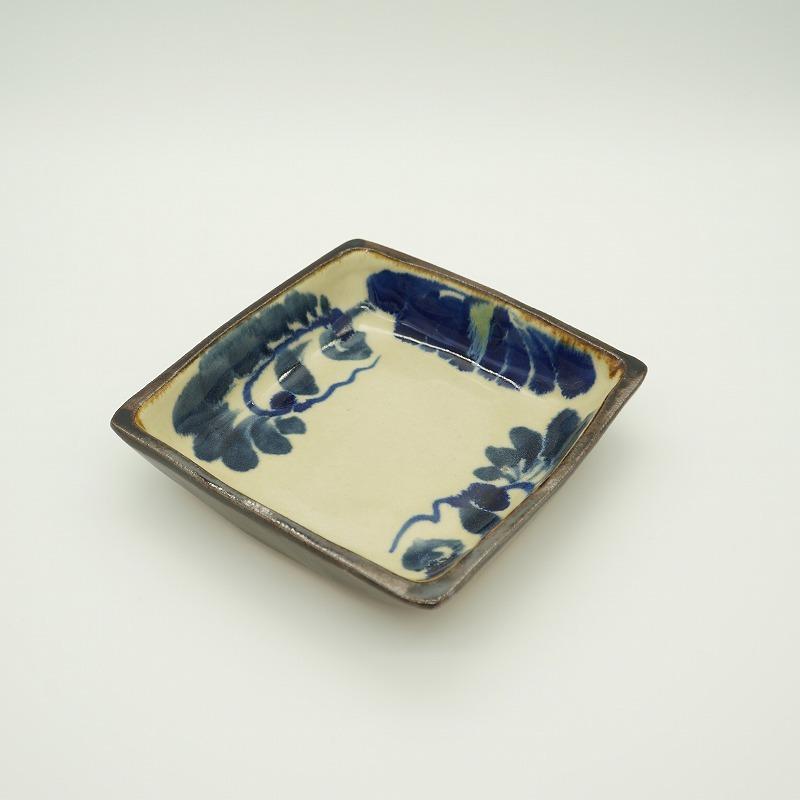 角鉢 菊花【石倉陶器所】