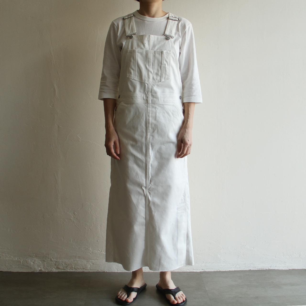 UNION LAUNCH 【 womens 】supima denim overall skirt
