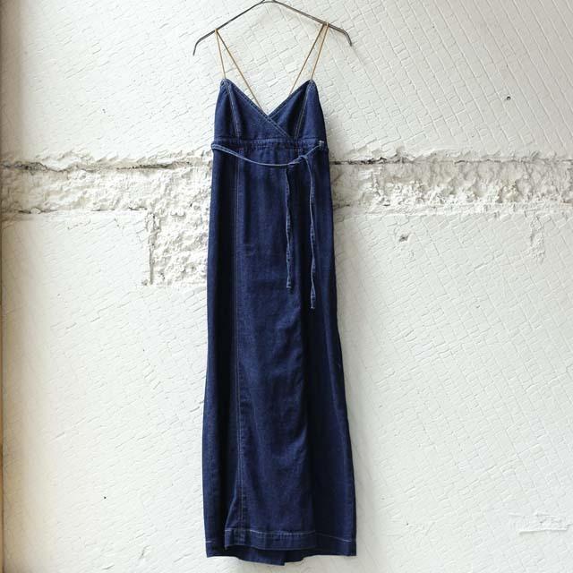 【nowos】DENIM CAMISOLE DRESS
