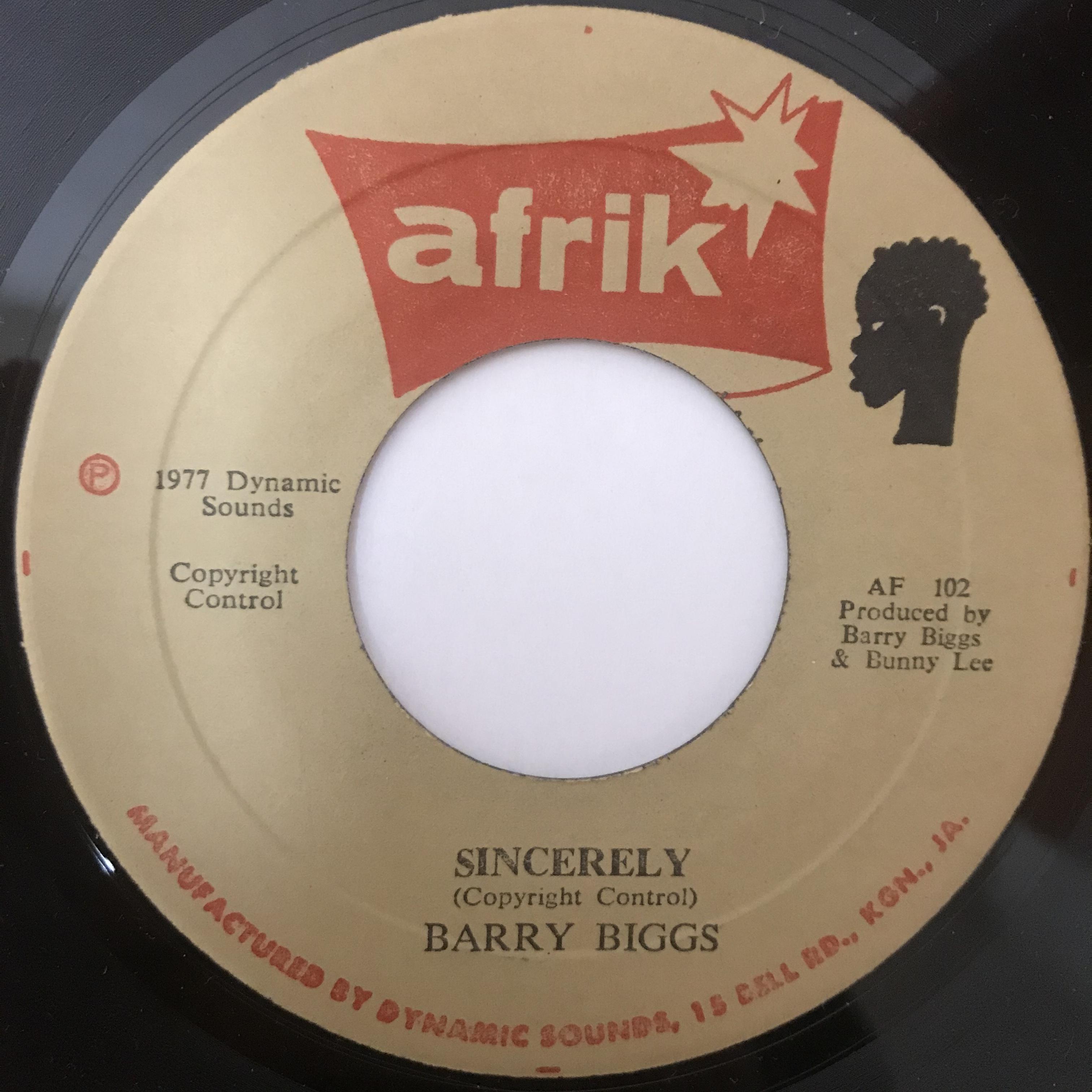 Barry Biggs - Sincerely【7-10889】