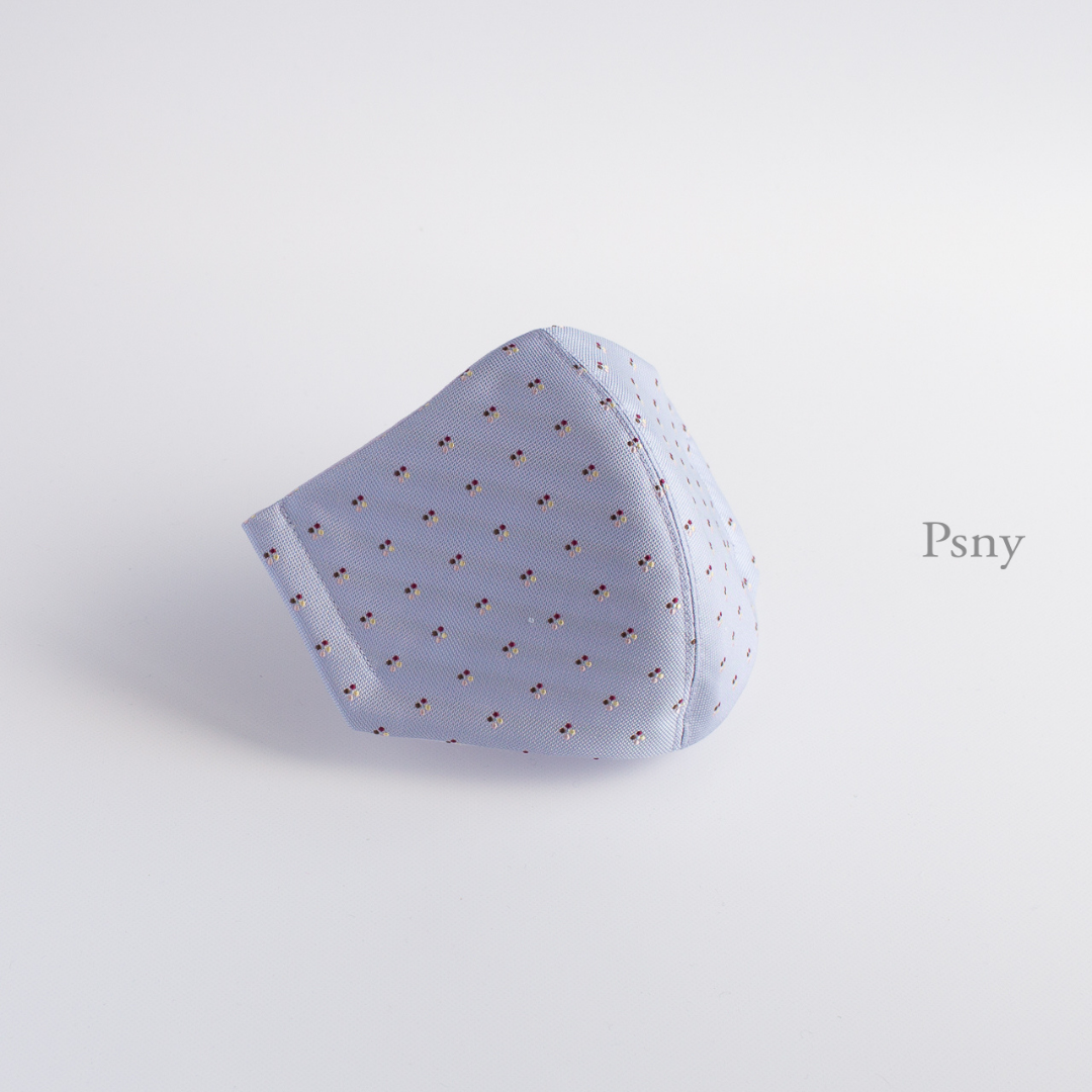 PSNY 送料無料 ゼン・ラベンダー シルク 花粉 黄砂 不織布フィルター入り 立体 大人用 ますく ちぢみ麻 清潔 フォーマル ギフト メンズ しっかり 上品 マスクコーデ スーツ マスク ZZ04