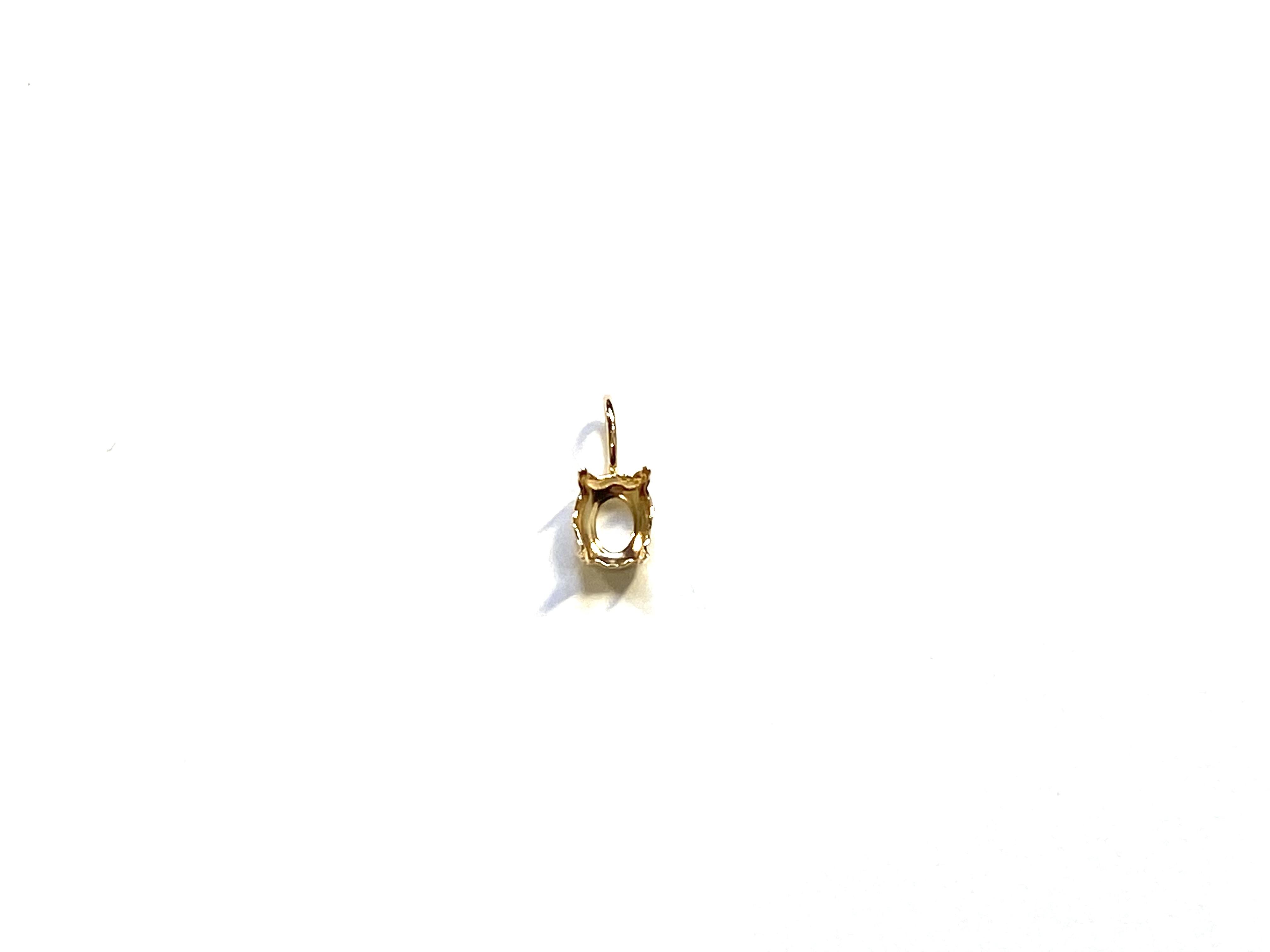 【K10YG】『タテ5mm ヨコ4mm』 オーバルカット対応空枠 [空枠No,62]