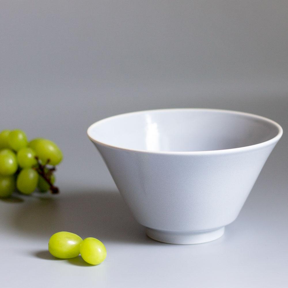 「シエル Ciel」きほんのうつわ どんぶり鉢 ボウル 皿 直径約17×深さ9.4cm ライトグレー 美濃焼 520116