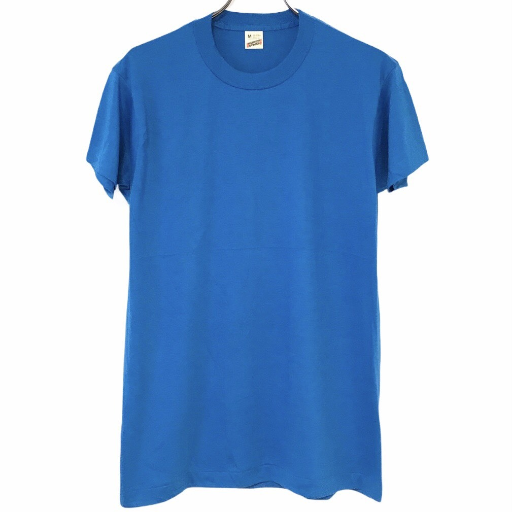 Dead Stock! 80's SCREEN STARS T-shirt made in USA Light Blue