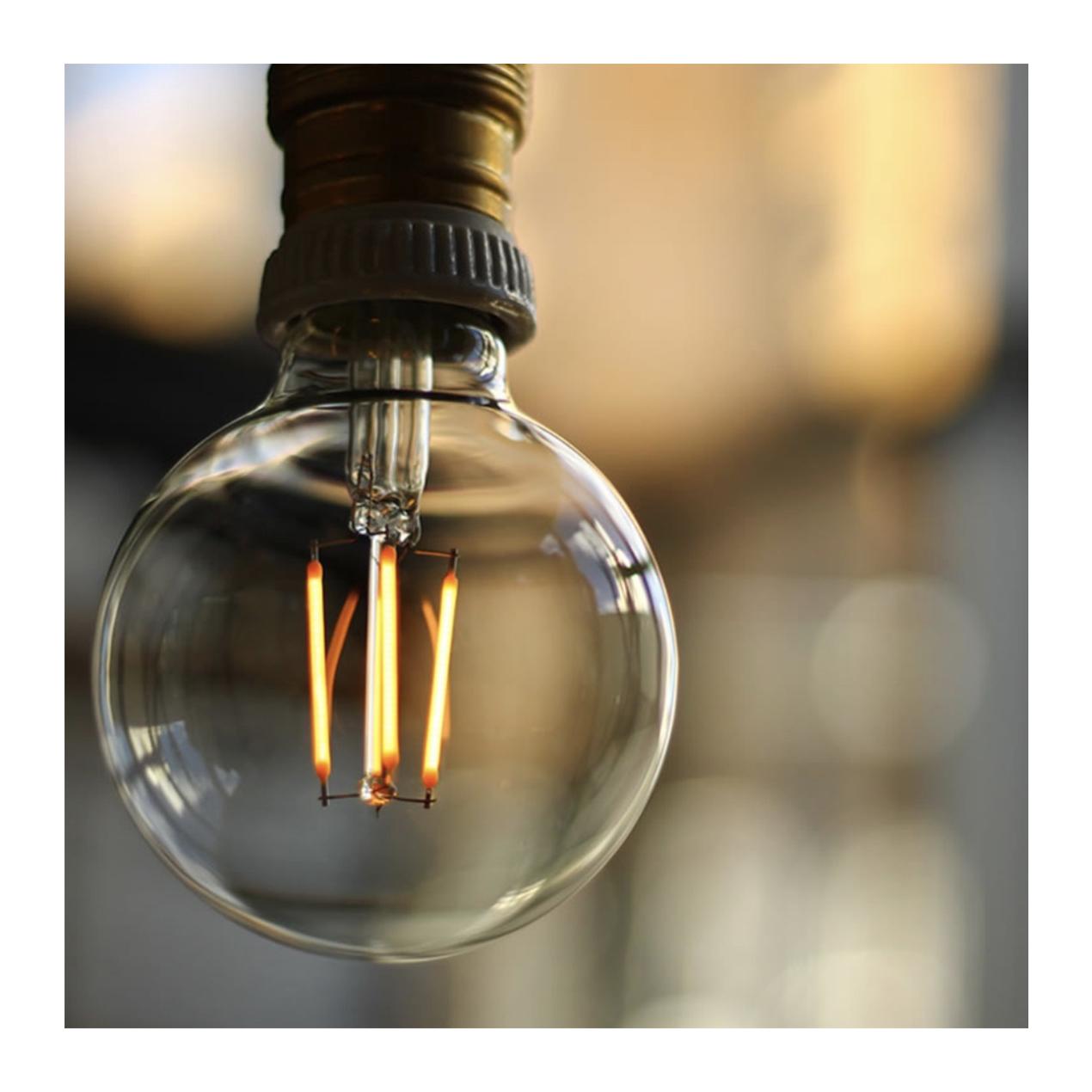 【調光器対応】E26 エジソンバルブ LED GLOBEクリア