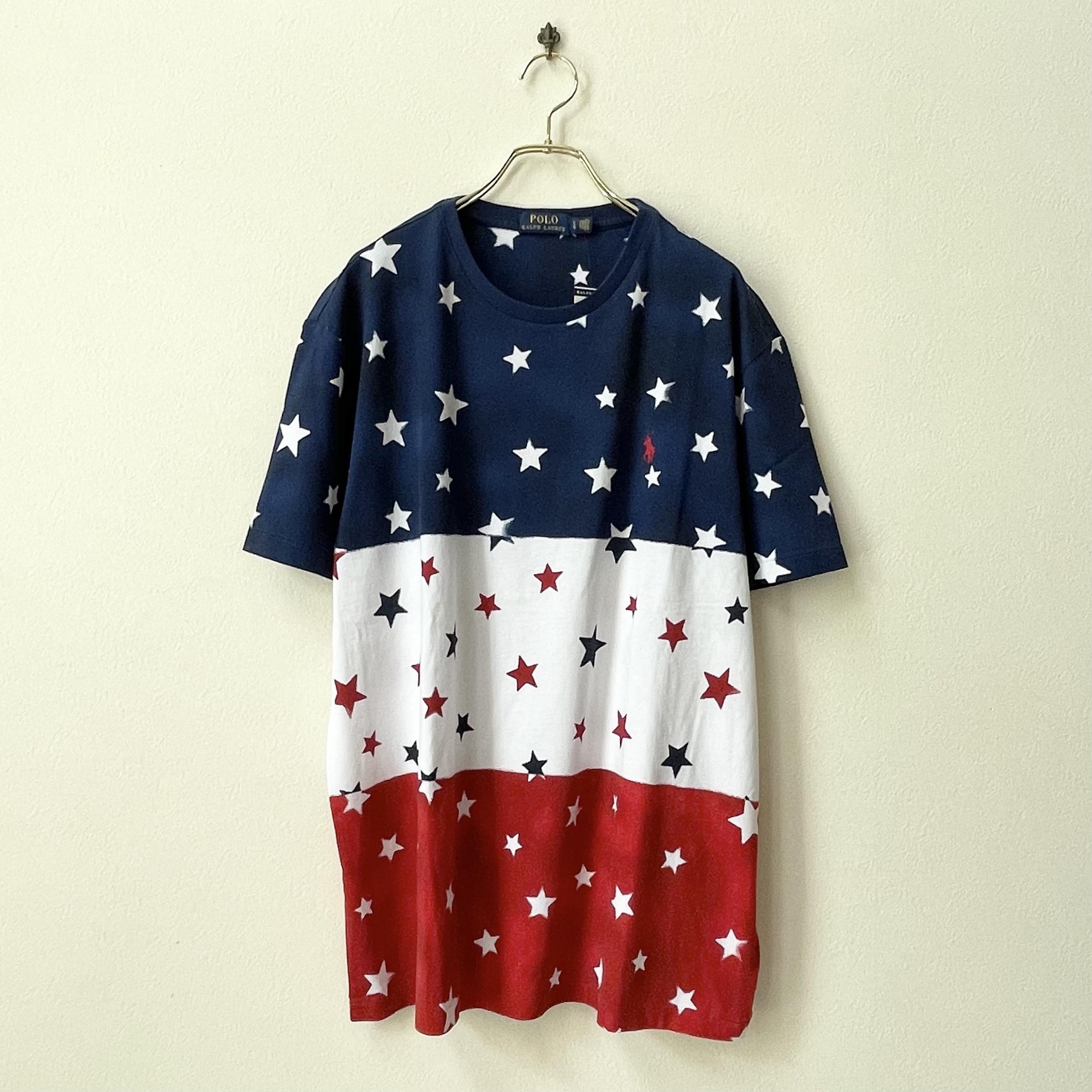 POLO RALPH LAUREN ポロラルフローレン 星条旗柄 トリコロールカラー プリントTシャツ 新品セレクト US規格