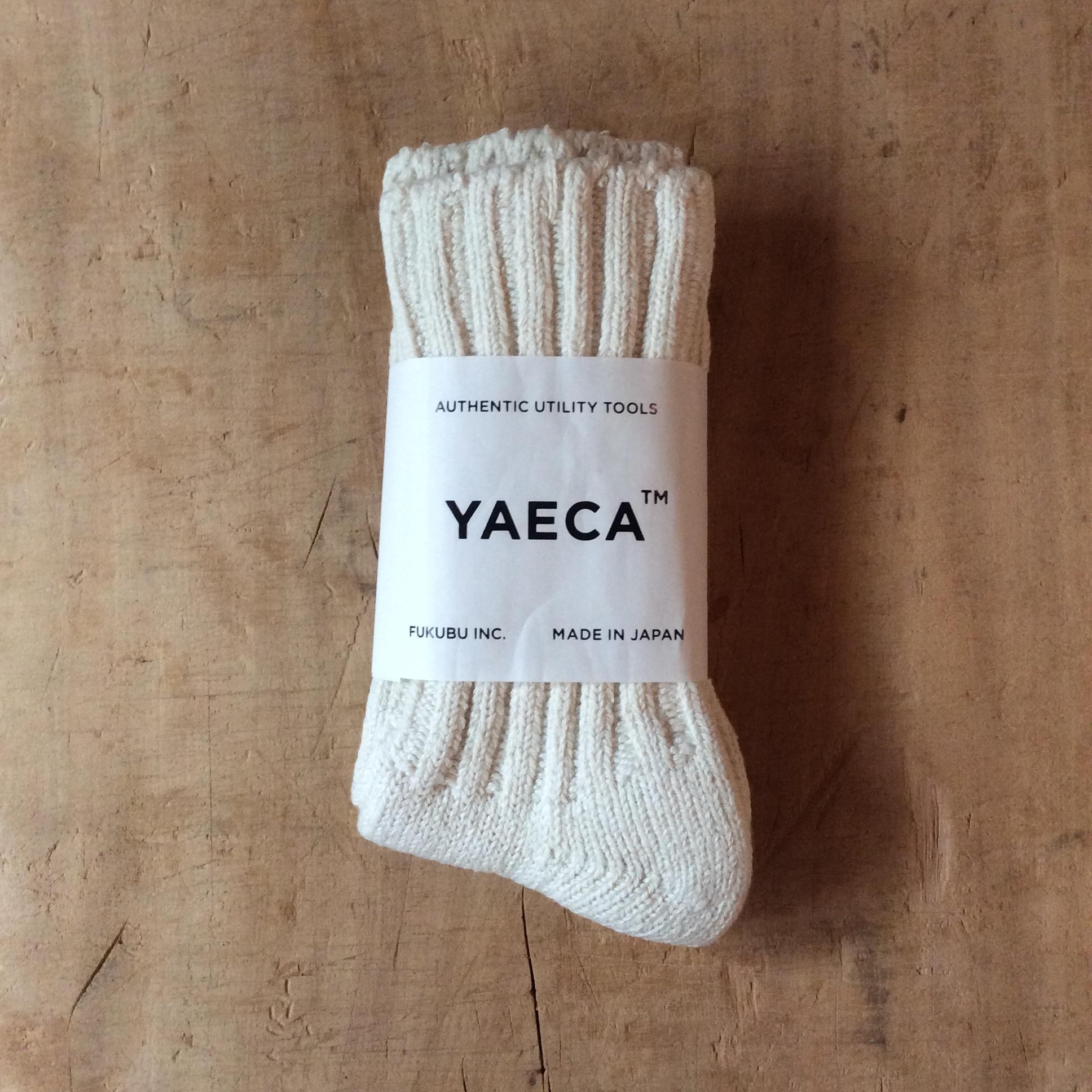 YAECA / ヤエカCOTTON/SILK SOCKS OFF WHITE