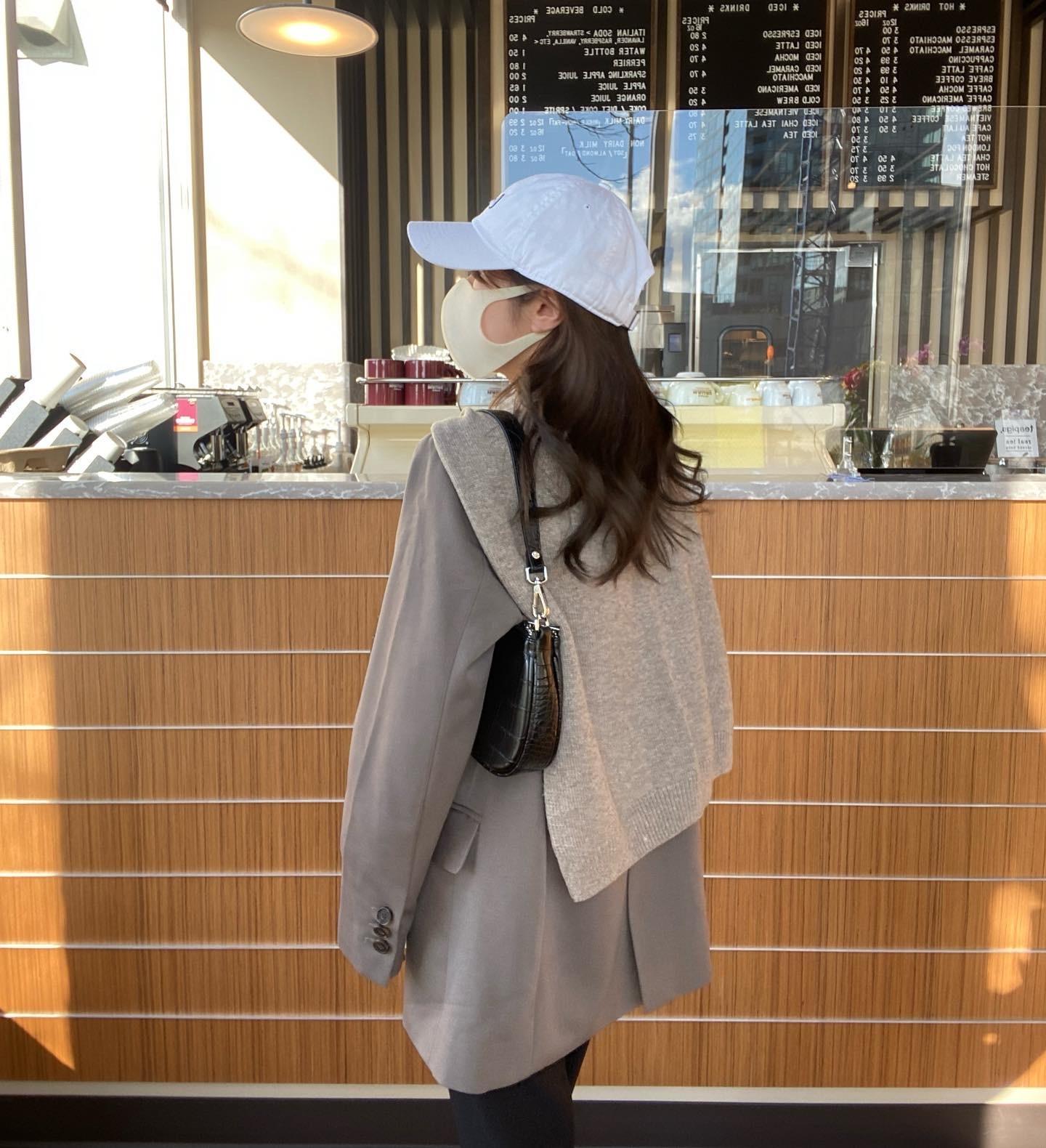 【LAST2】DAYNYC shoulder crossed knit