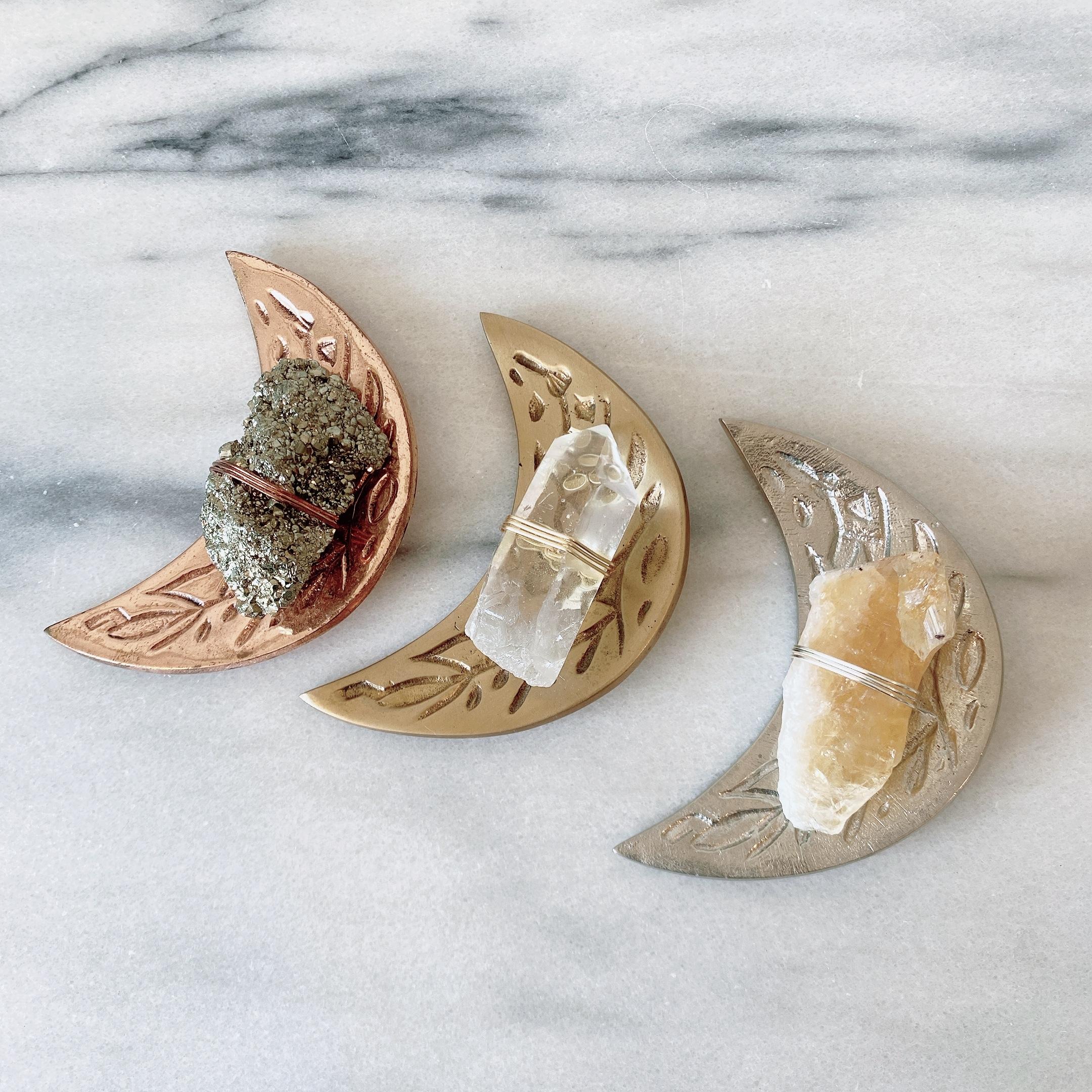 Healing Crystal Moon Dish ヒーリングクリスタルムーンディッシュ
