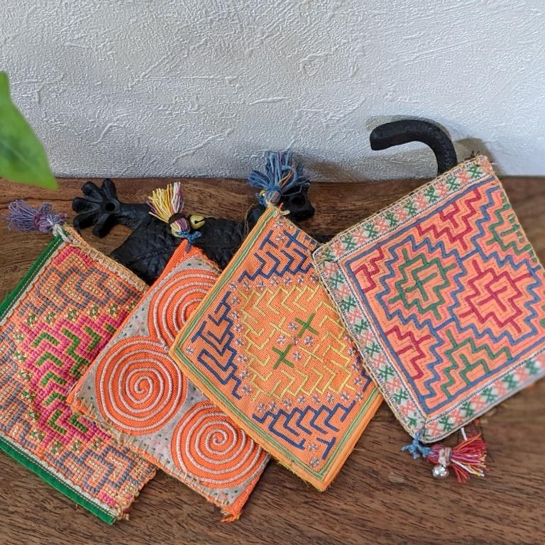 ♦出張中♦sora to tori オリジナル モン族古布のコースター