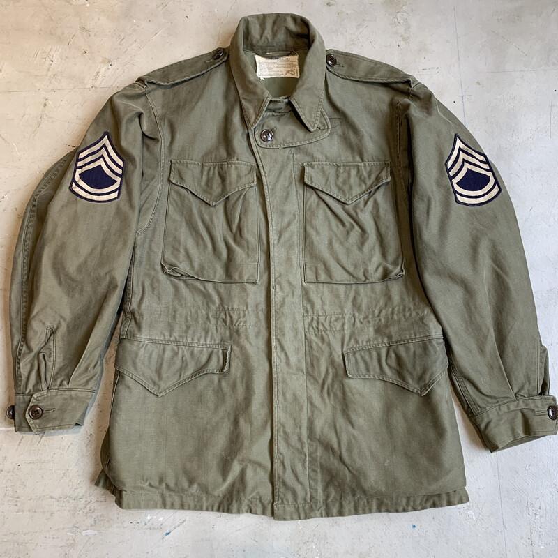 40's U.S.ARMY M-1943  フィールドジャケット  オリーブドラブ 34R 希少サイズ WW II 大戦 1944年 QM 米軍 実寸M~L ミリタリー ヴィンテージ BA-1336 RM1705H