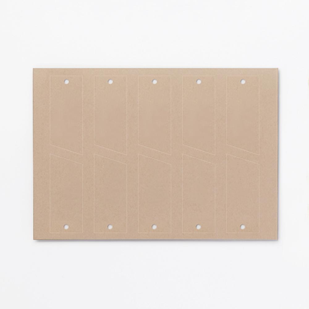 【予備】foglia・aimable席次表用クラフトタグ(無地)/1シート(10枚)