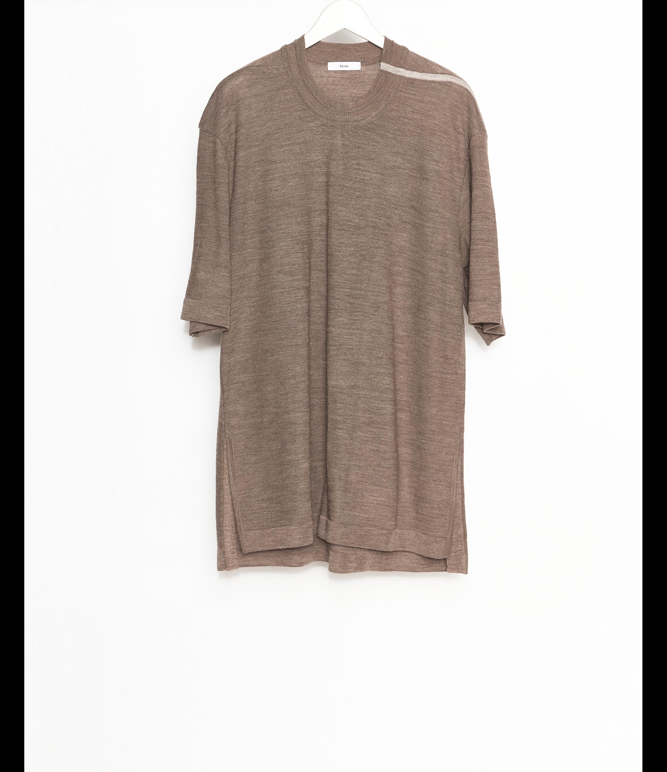 Knit T-Shirt / Brown