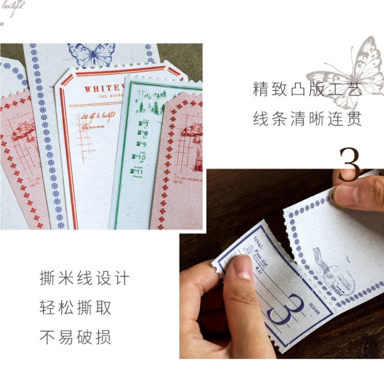 ナチュラルシリーズ メモパッド 全4種 素材紙 メモ帳 レトロ 蝶 きのこ ボタニカル 植物 コラージュ ほぼ日手帳 E12
