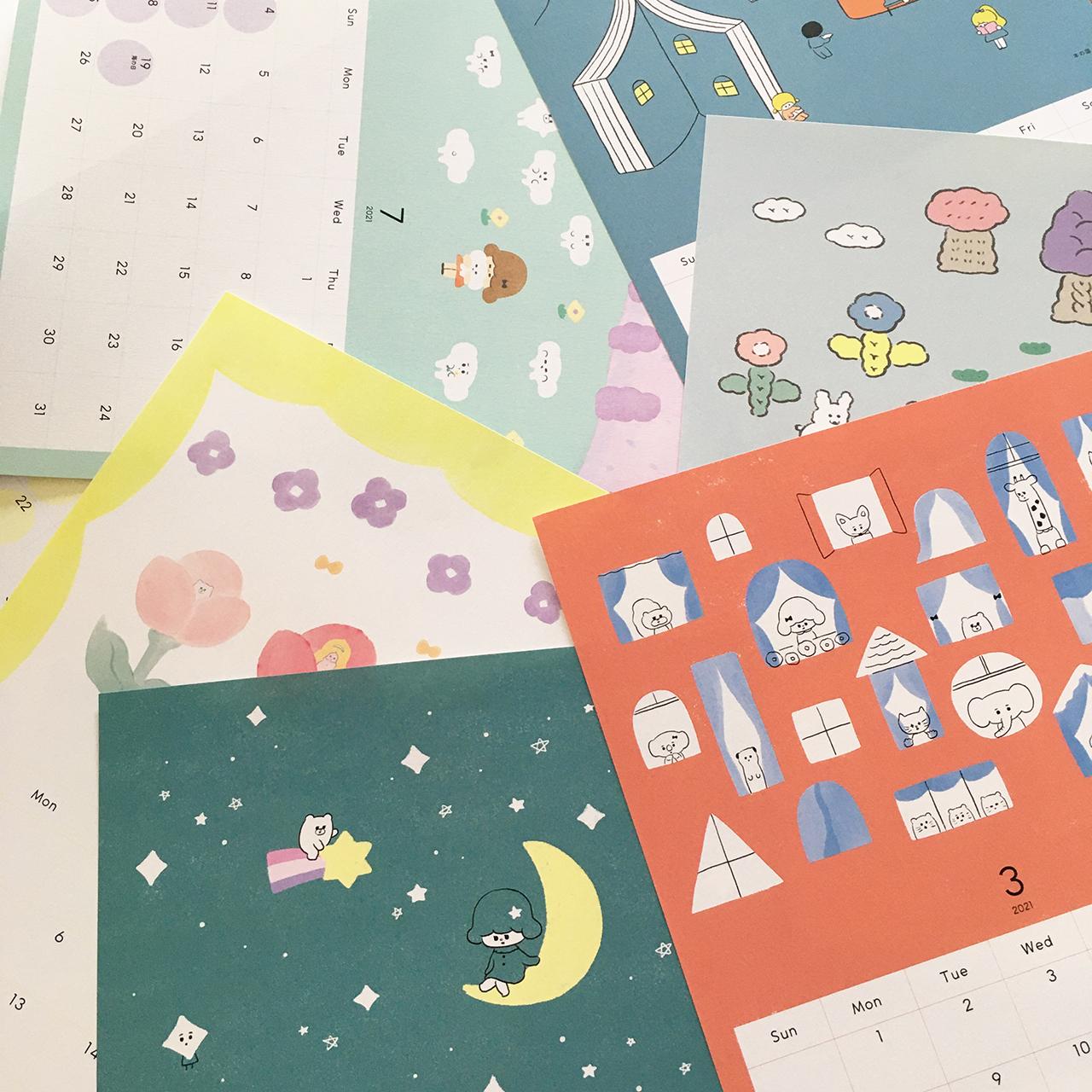 2021 るーしー&くま カレンダー(壁掛け)