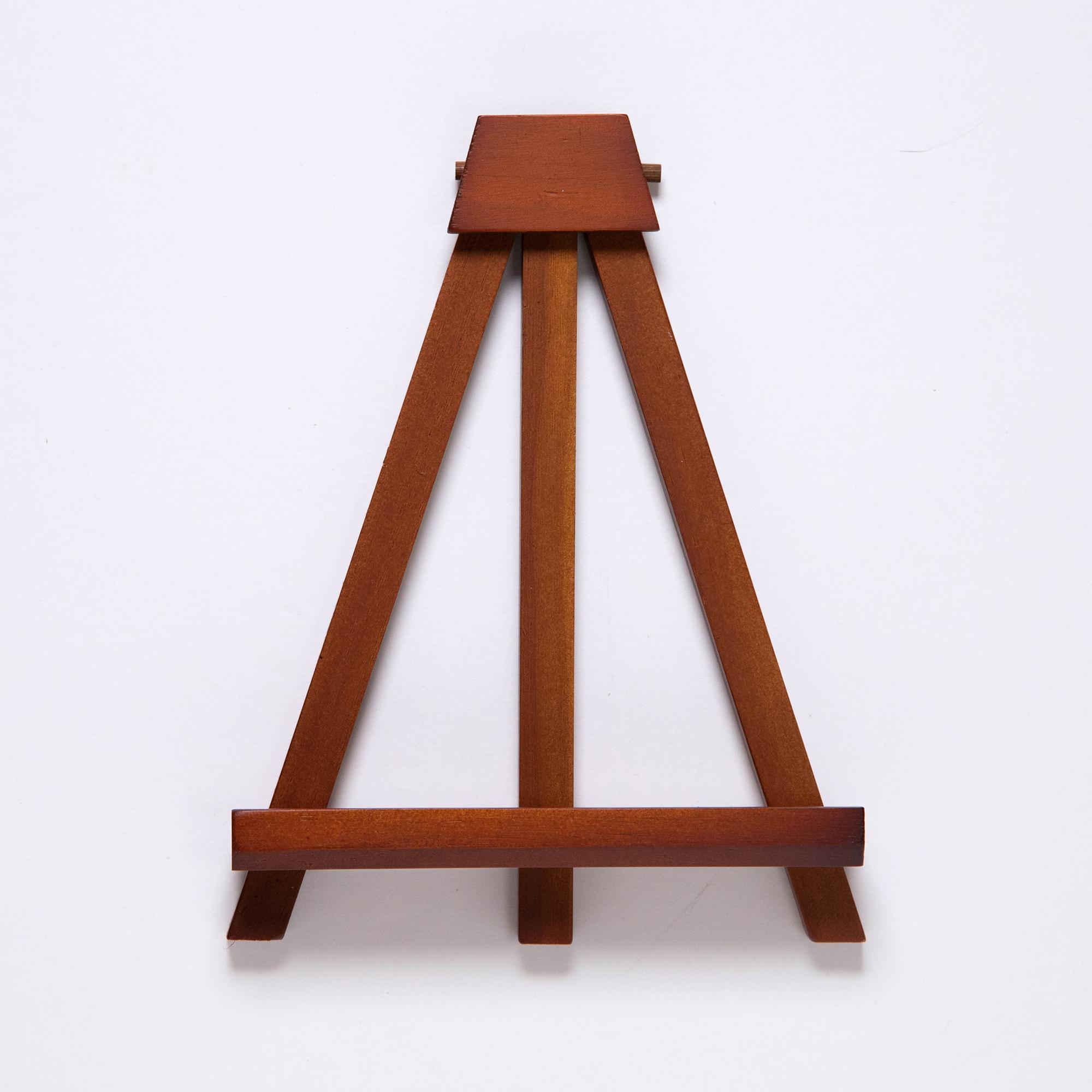 木製ミニイーゼル ブラウン