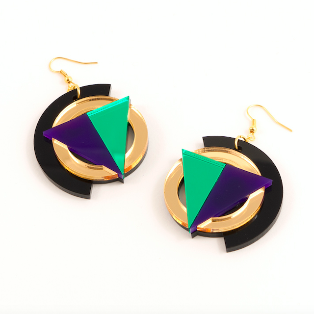 """MYSTIC FORMS """"Geometric Perspex Statement Earrings """" FORM004 ピアス"""