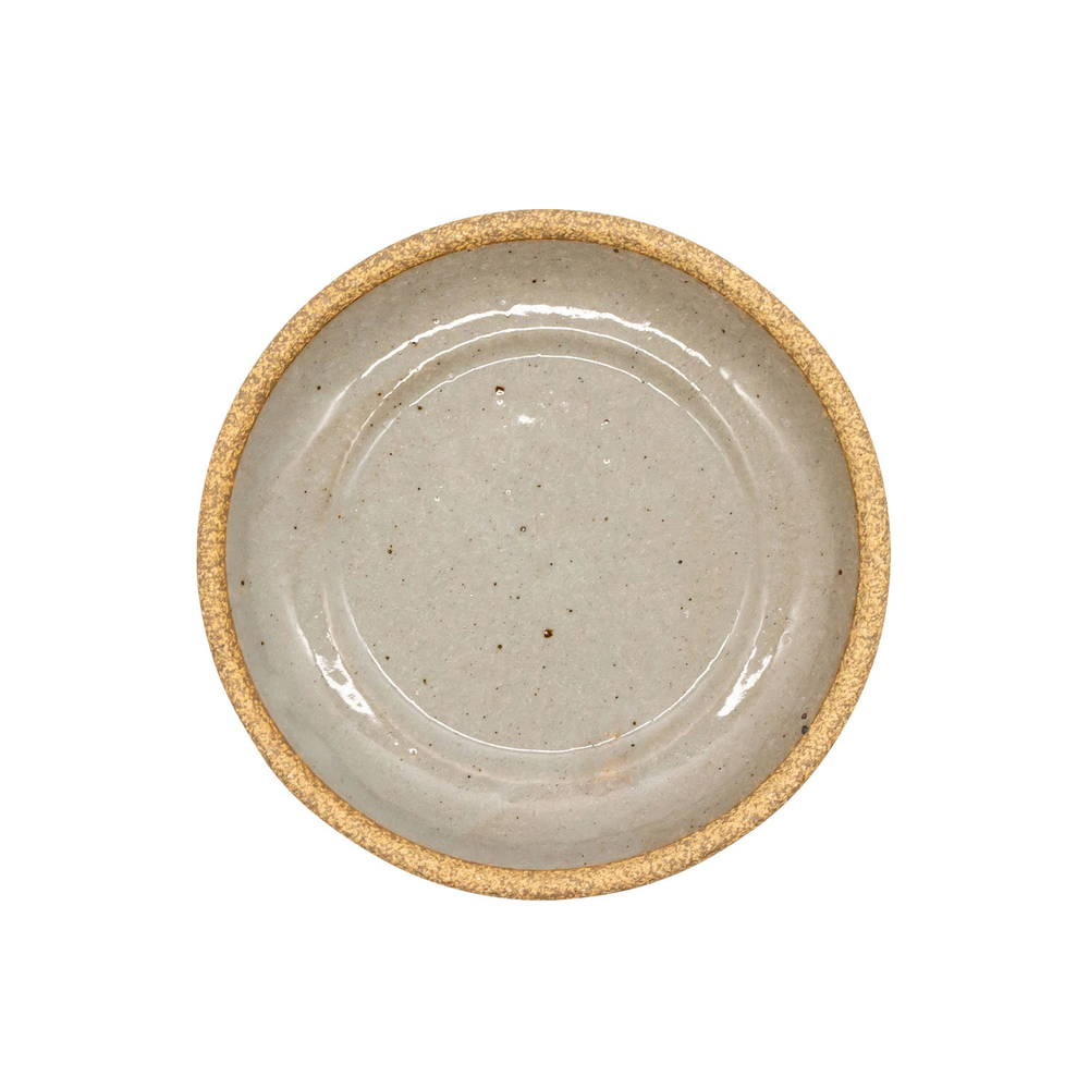 萬古焼 藍窯 スモールプレート 小皿 取り皿 直径約15cm 「エスタ Esta」 赤土グレー AGM-200111