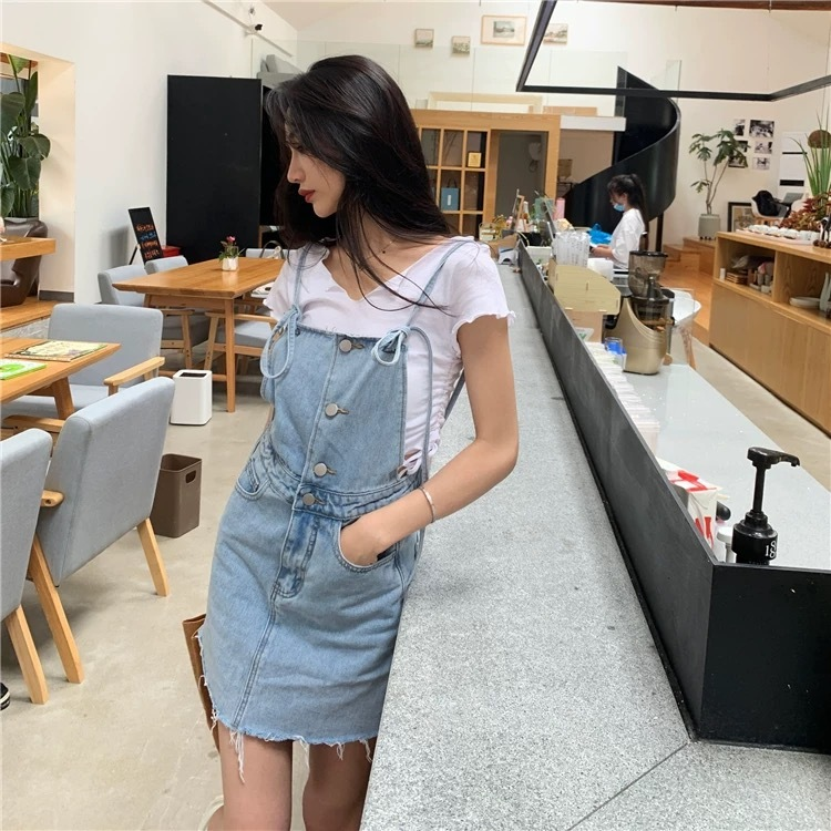 simple denim overall