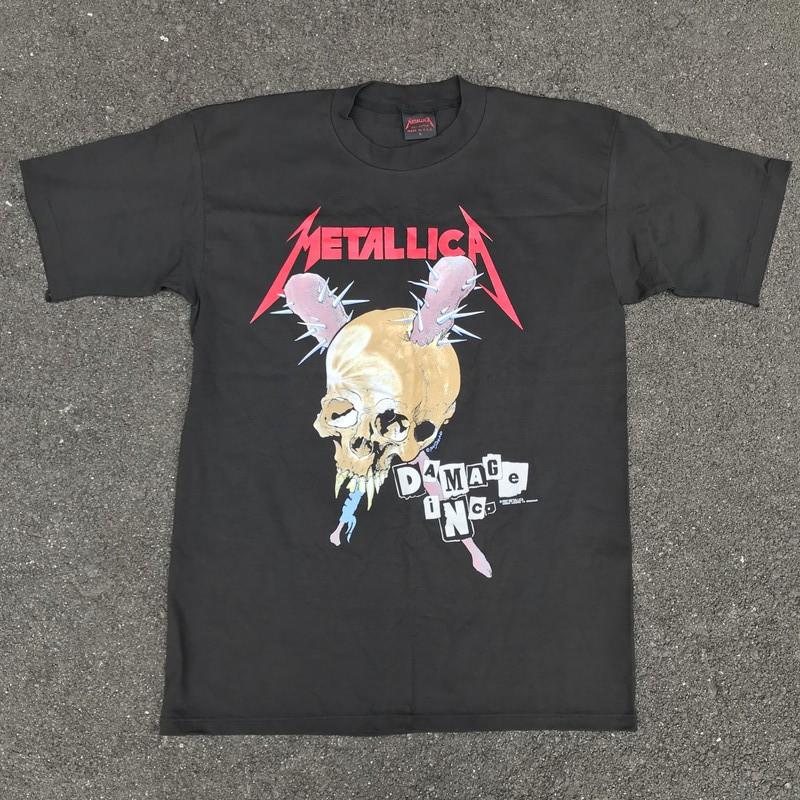 80's 90's METALLICA DAMAGE INC TOUR Tシャツ ブラック NOS デッドストック メタル ロック パスヘッド USA製 L 希少 ヴィンテージ