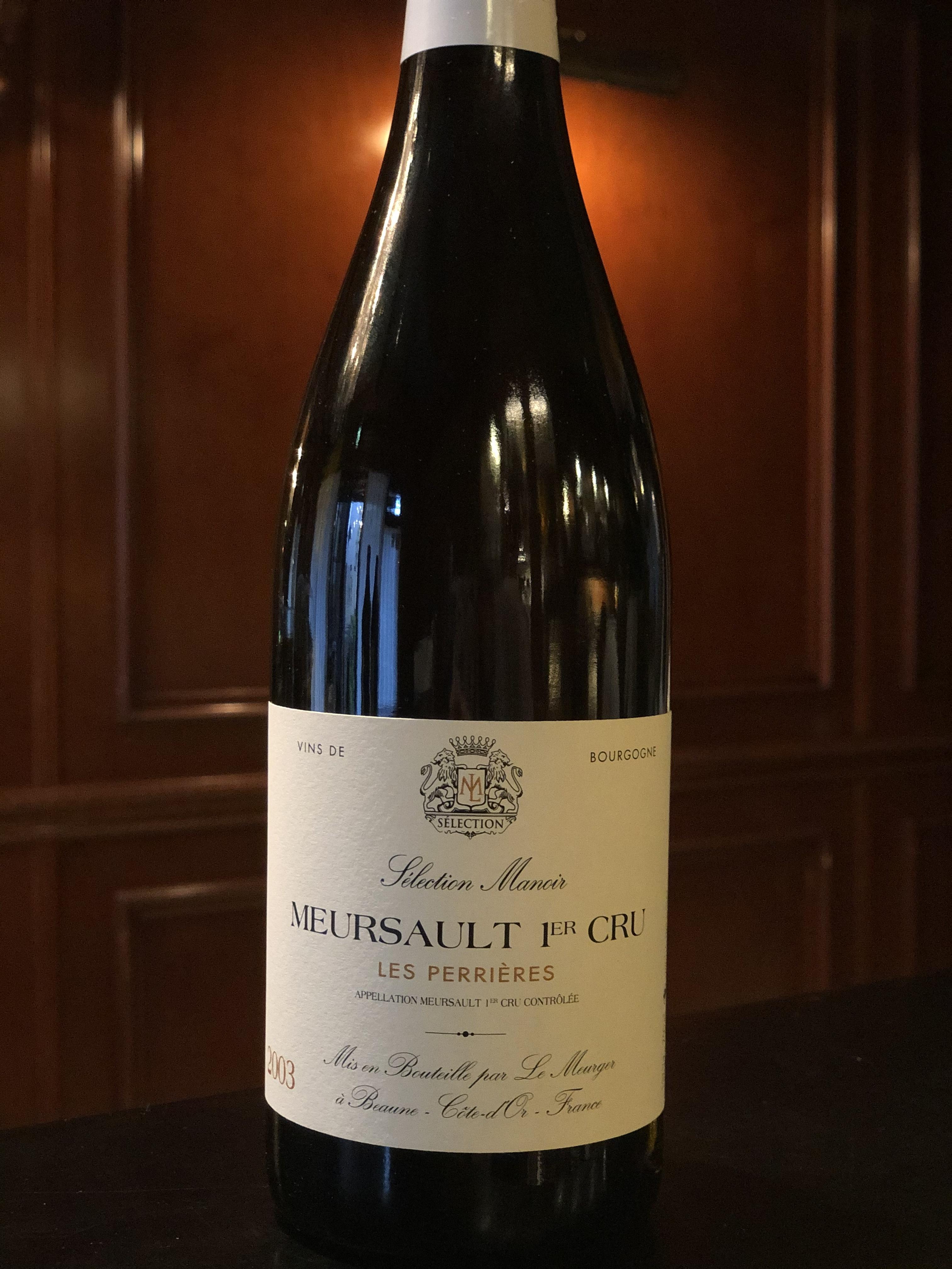 2003年 ムルソー プルミエ クリュ レ ペリエール 白ワイン
