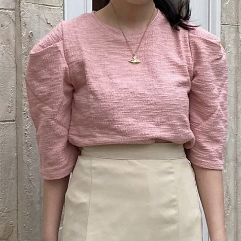 【Belle】tack puff blouse[white last1]