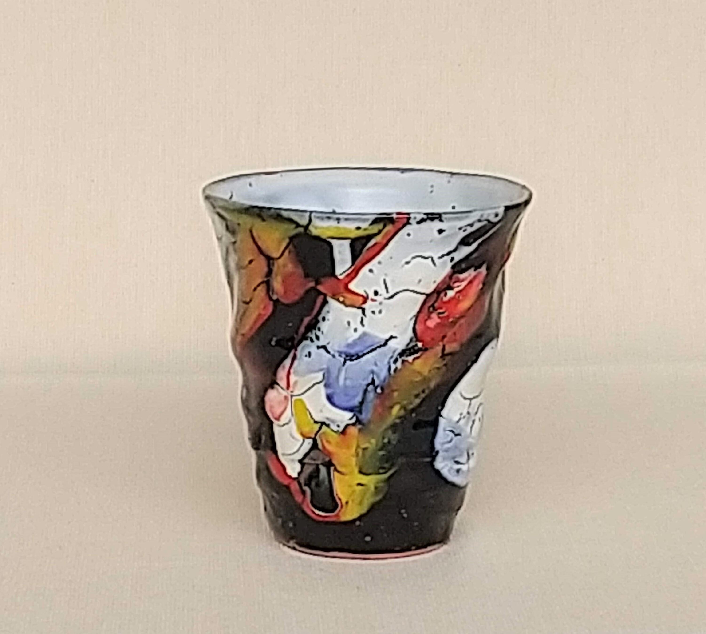 桜窯 斑 白 焼酎カップ