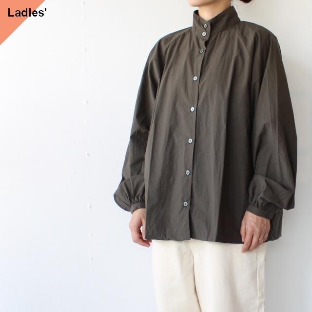 SETTO スタンドカラーシャツ FLEX  SHIRT (Dark Olive)