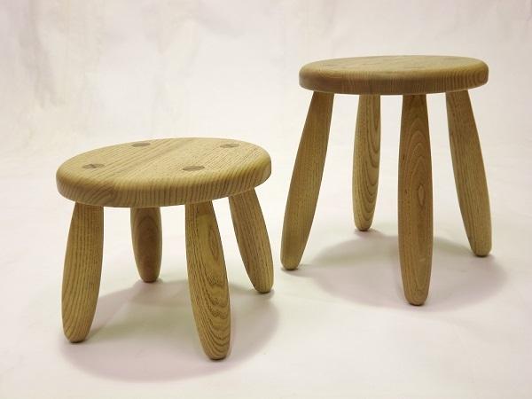 栗の木のステップスツールS