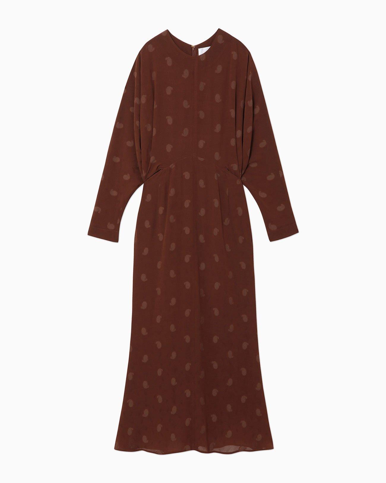 【Mame Kurogouchi】Paisley Jacquard Classic Dress MM21PF-DR708