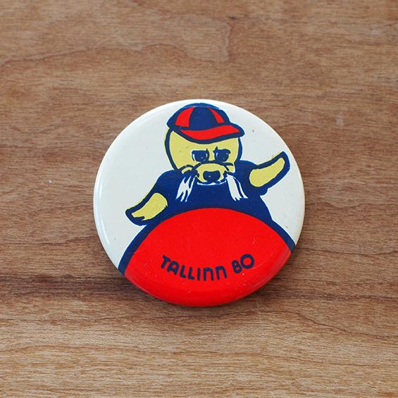 【ロシア】 あざらしのヴィグリ 缶バッチ (No.6) ヴィンテージ エストニア タリン オリンピック
