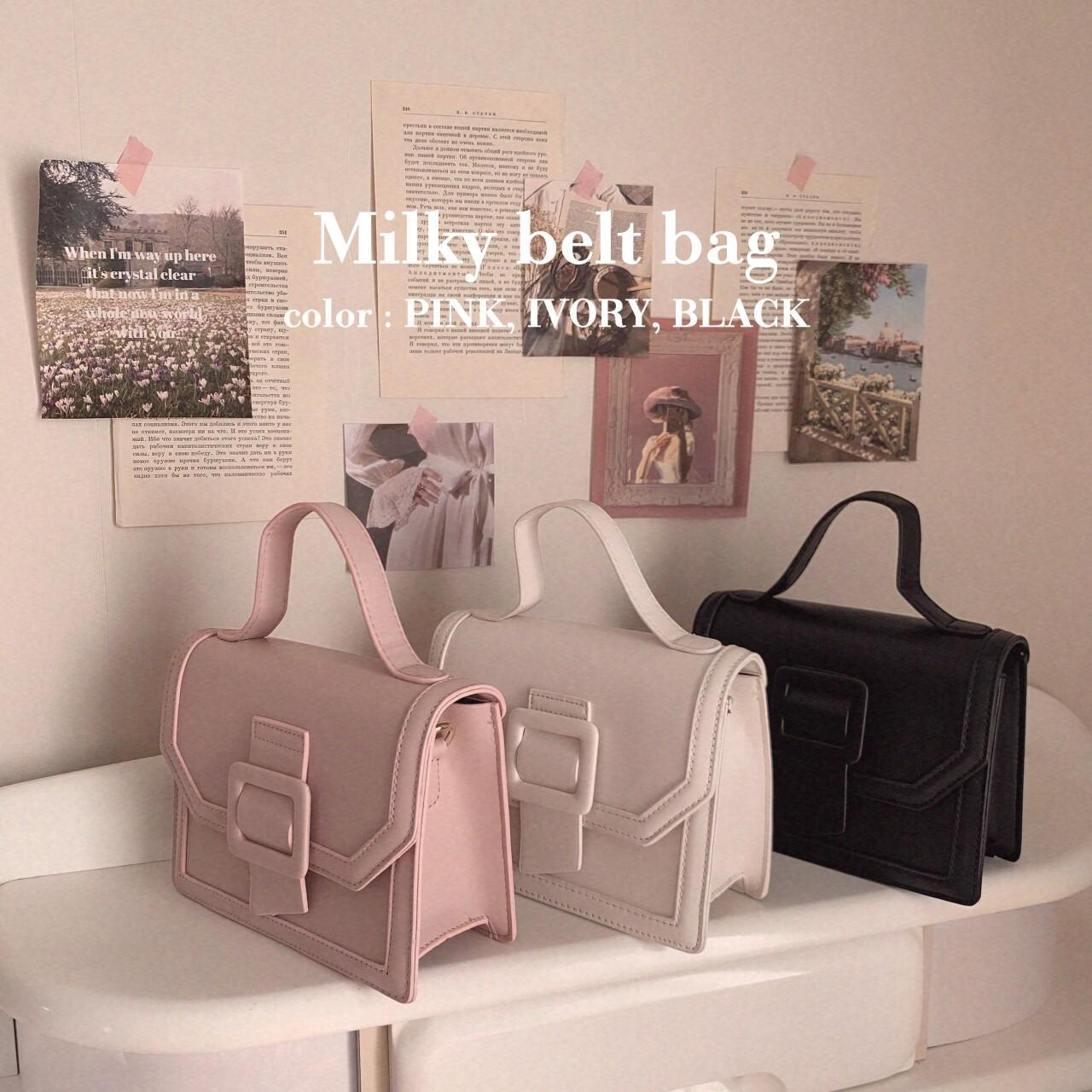 再販予定【meltie】milky belt bag