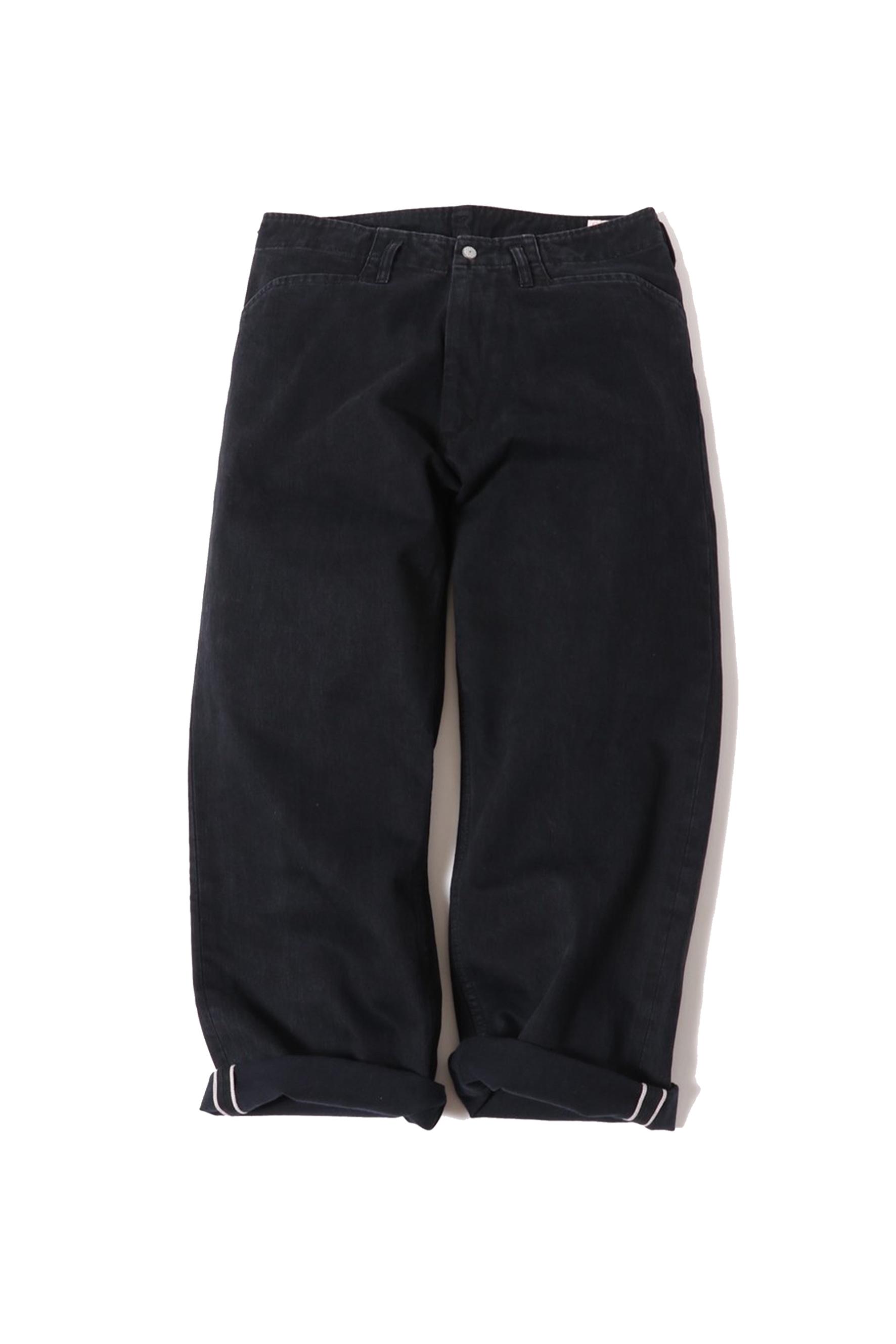 13oz Denim Frisco Pants / onewash / black
