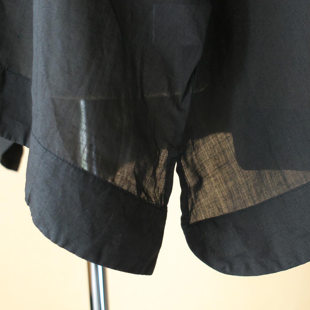 Gauze# ガーゼ G509 tiny collar wide pull over タイニカラーワイドプルオーバー・ブラック