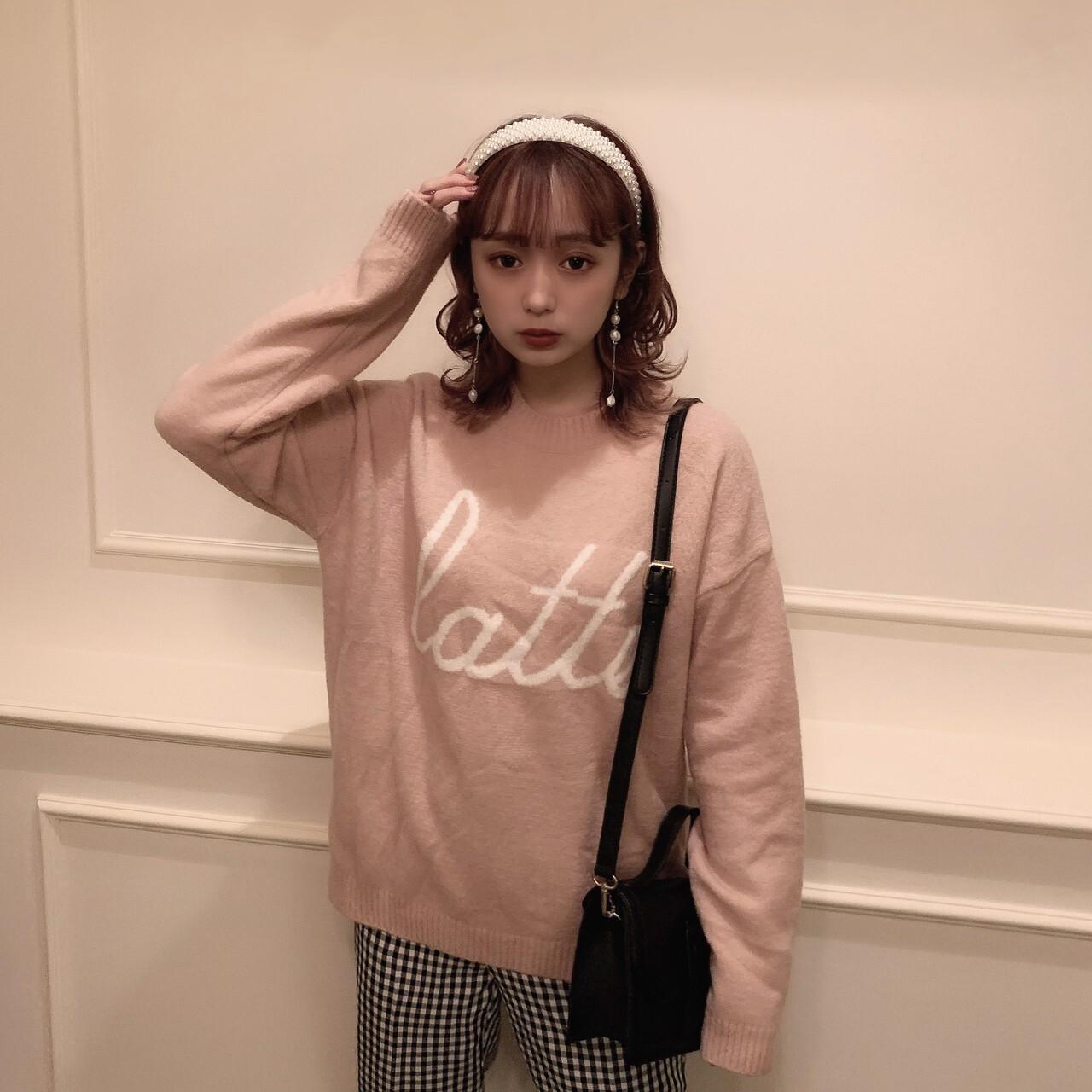 【meltie】latte knit