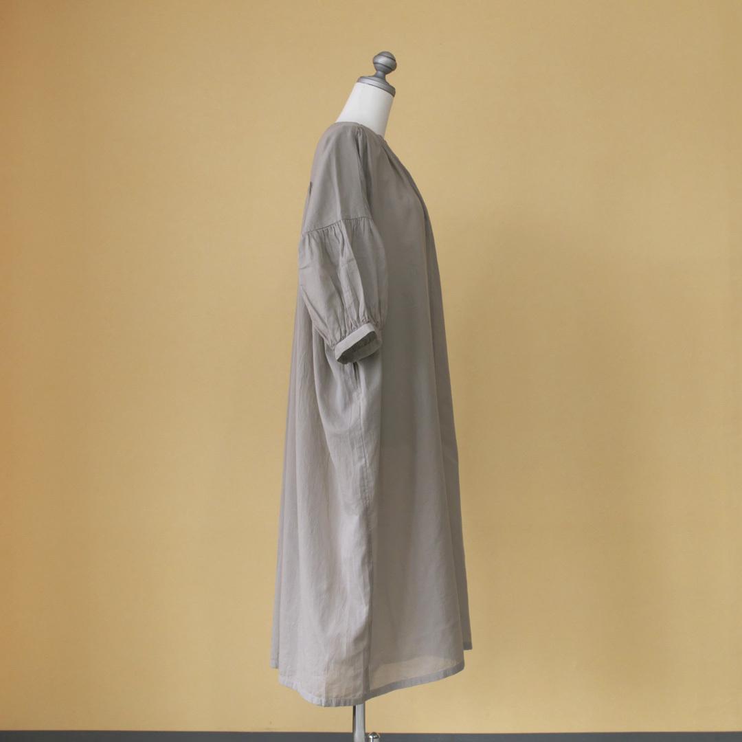 evam eva エヴァムエヴァ cotton voil one piece コットンボイルワンピース・22:コーラルグレイ