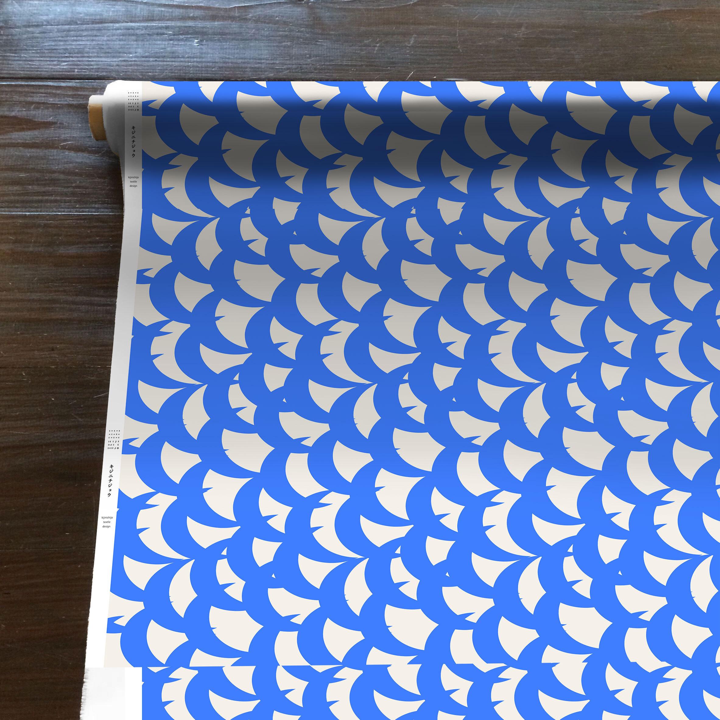 MountainWind(青)[50cm×110cm]cotton
