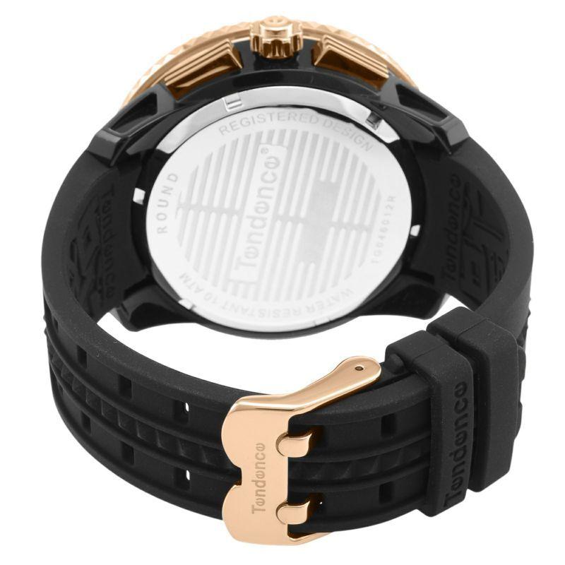 【Tendence テンデンス】TG046012R GULLIVERガリバー(ブラック×ローズゴールド)/国内正規品 腕時計