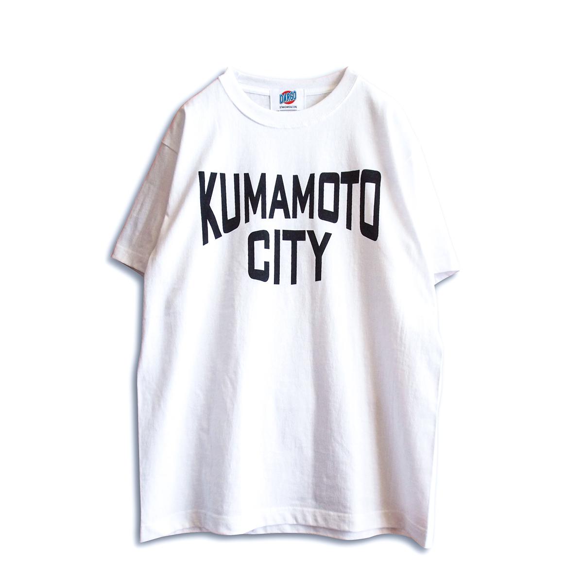 """【DARGO】""""KUMAMOTO CITY"""" T-shirt (WHITE)"""